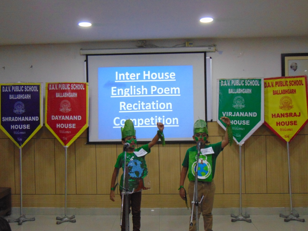 Inter House English Recitation Competition on July 20, 2018